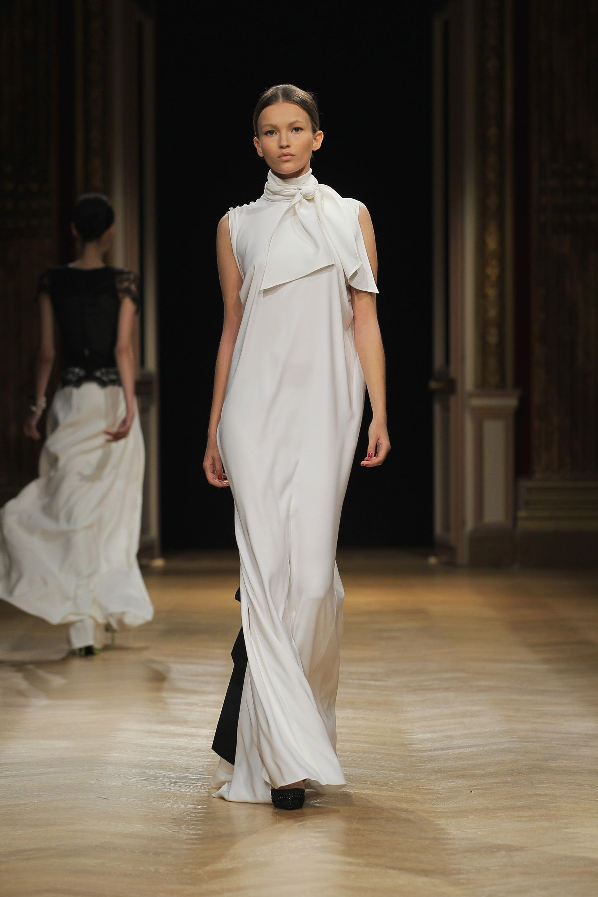 Talbot Runhof wedding dress Tokami 2012 High neck Silk street size ...