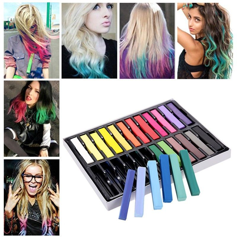 Cool Punk 24 Colors Hair Dying Chalkpen Easy Dye Temporary Colors