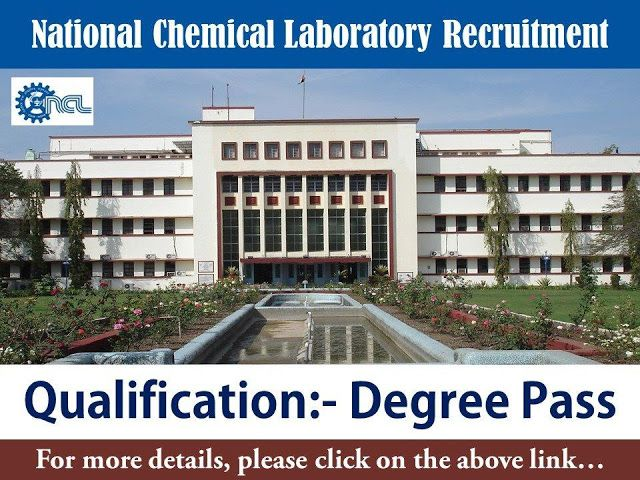 National Chemical Laboratory (NCL) Recruitment Project