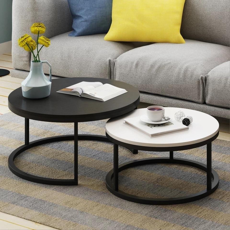 Benson Modern Round Coffee Table Set Round Coffee Table Modern Round Coffee Table Sets Round Coffee Table [ 960 x 960 Pixel ]