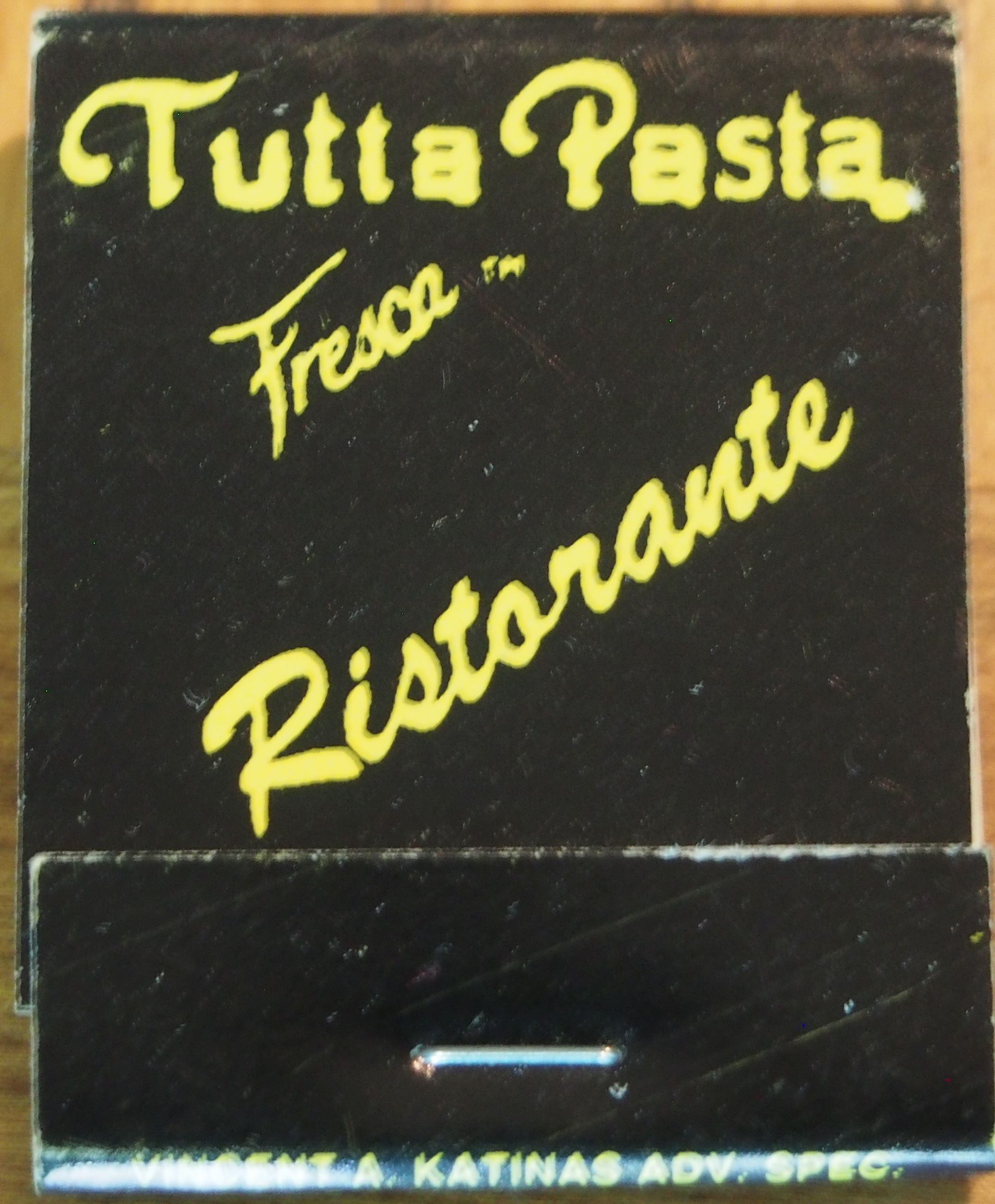 Tutta Fresca Ristorante #matchbook To order your business' own branded #matchbooks call TheMatchGroup @ 800.605.7331 or go to www.GetMatches.com today!