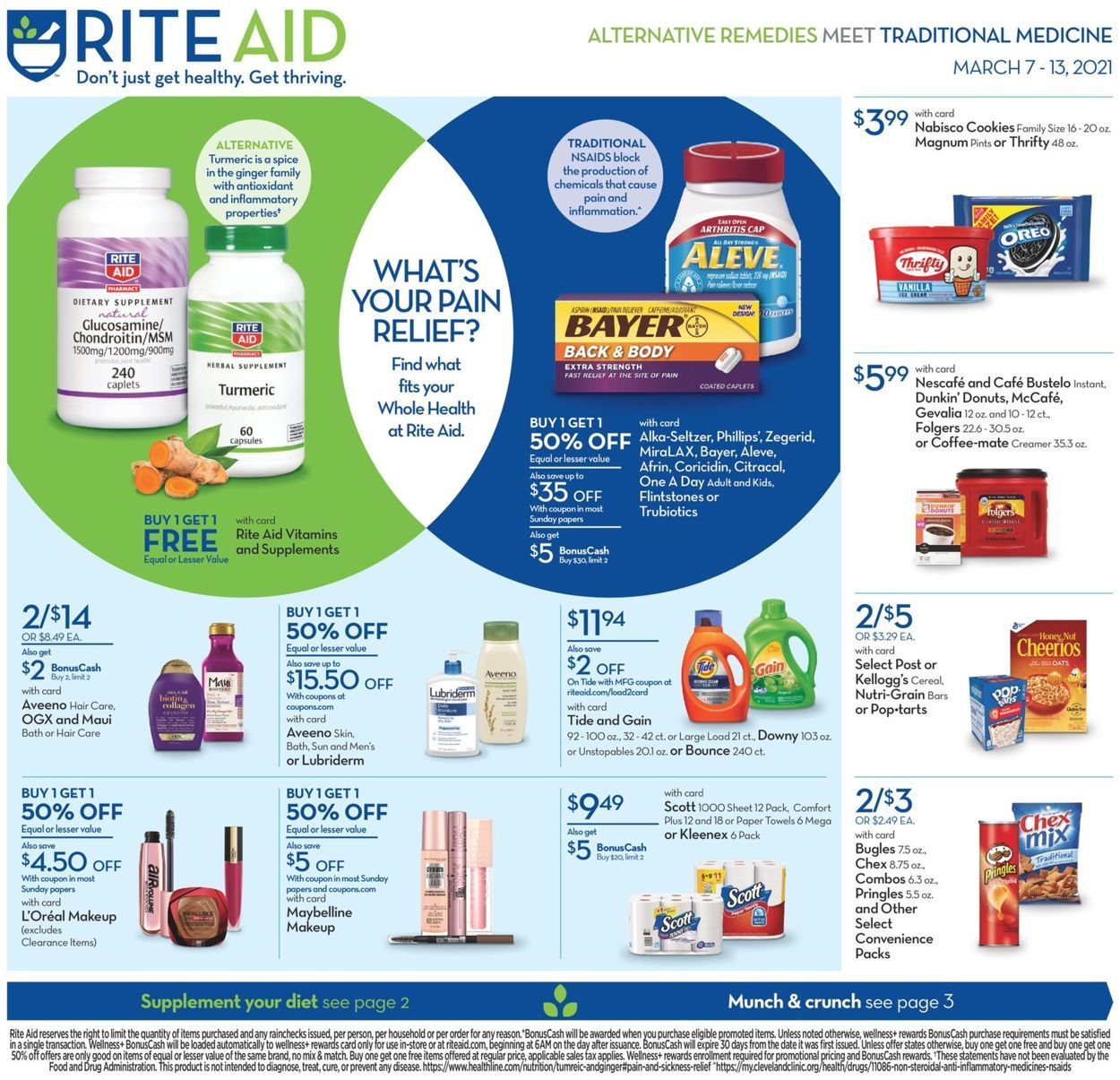Rite Aid Weekly Ad Mar 7 13 2021 In 2021 Online Coupons Codes Online Coupons Weekly Ads