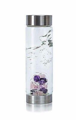 b214ff6ae4 Wellness Gemstone Water Bottle Crystal Healing Gem Elixir Rose Quartz  Amethyst