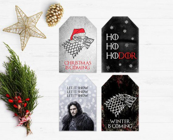 Super Game of Thrones Christmas Tags, GoT Gift Tags, Printable, Winter ZK-31