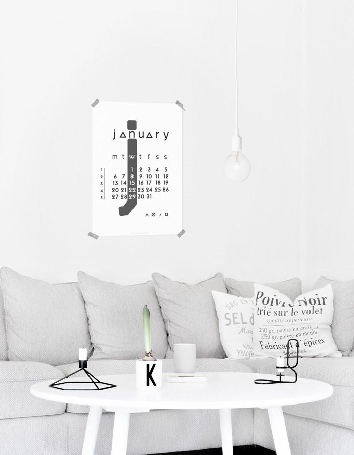 Via Only Deco Love | White and Grey | Design Letters | HAY | Menu