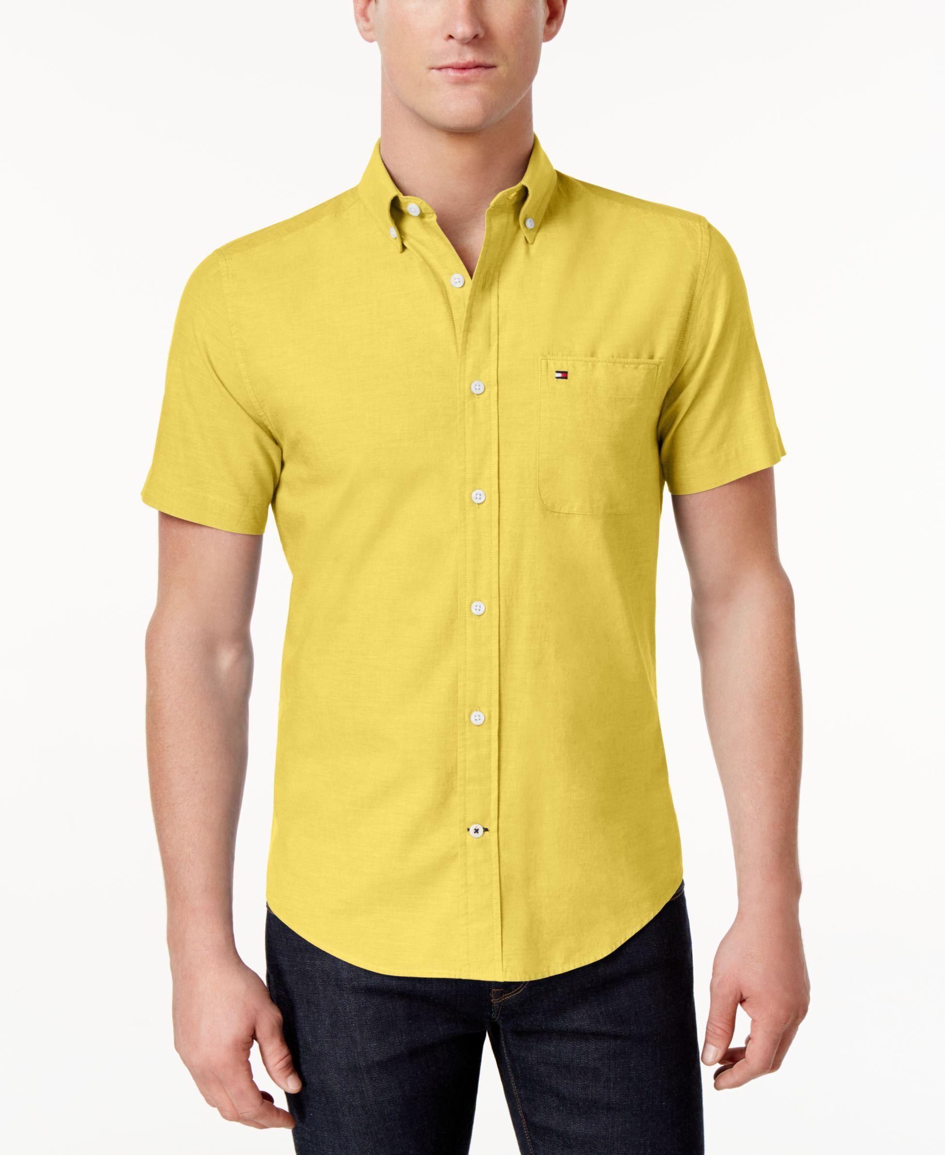1d3fcf6d1 Tommy Hilfiger Men s Wainwright Short-Sleeve Oxford Shirt