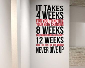 2 Large Home Gym Motivational Wall Art Decal Quotes Fitness Exercise. -  2 Large Home Gym Motivation...