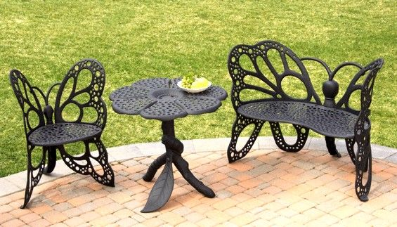 Butterfly Garden Bench Is Absolutely Stunning Iron Chairs