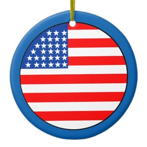 American Flag Circle Ornament Paper Plates Party American Flag Custom Paper Plates