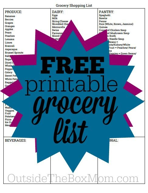 Have you been looking for a grocery list template so you donu0027t - free shopping list template