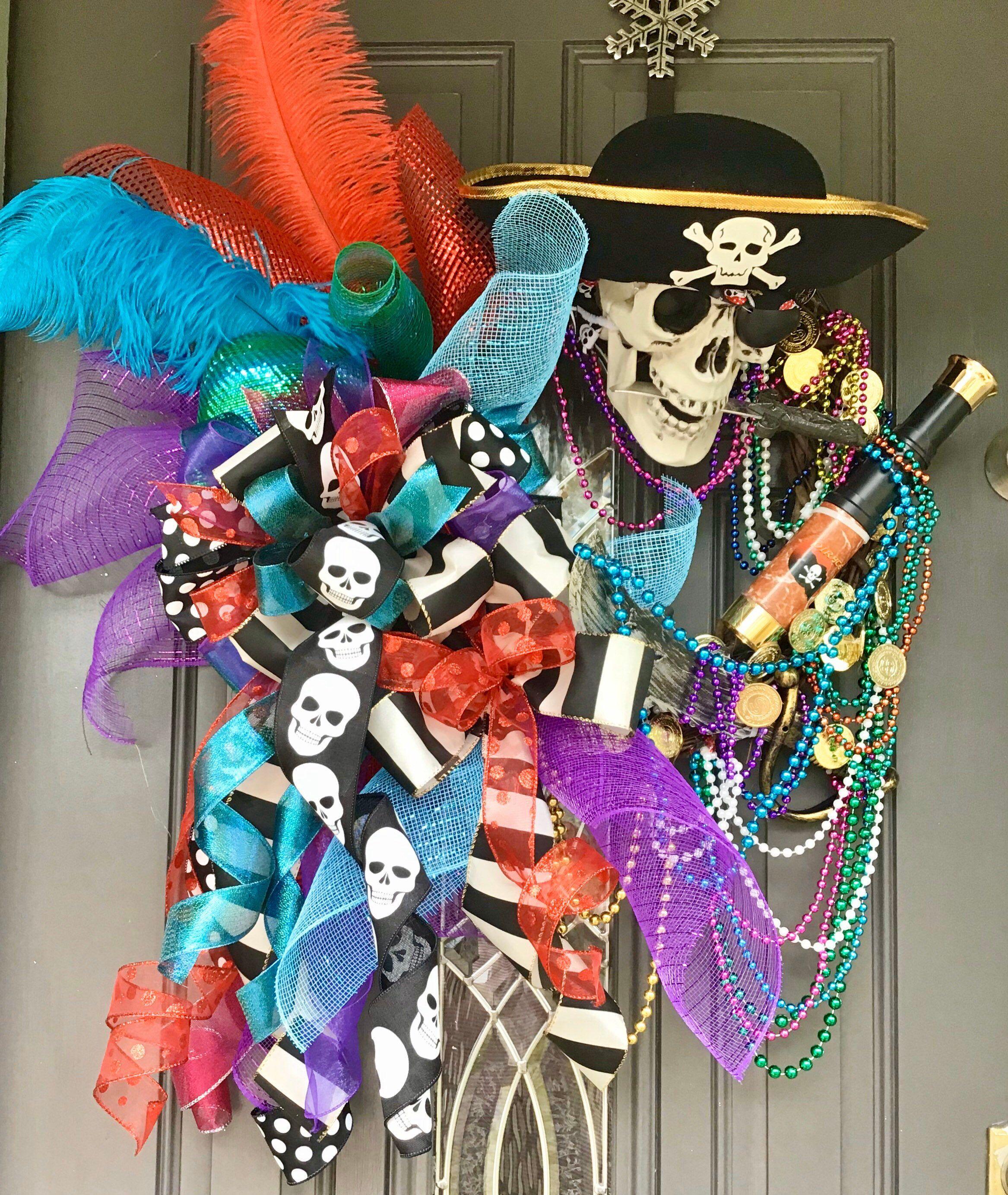 Pirate Bay Halloween 2020 Gasparilla Wreath, Pirate Decor, Gasparilla Decor, Pirate Invasion
