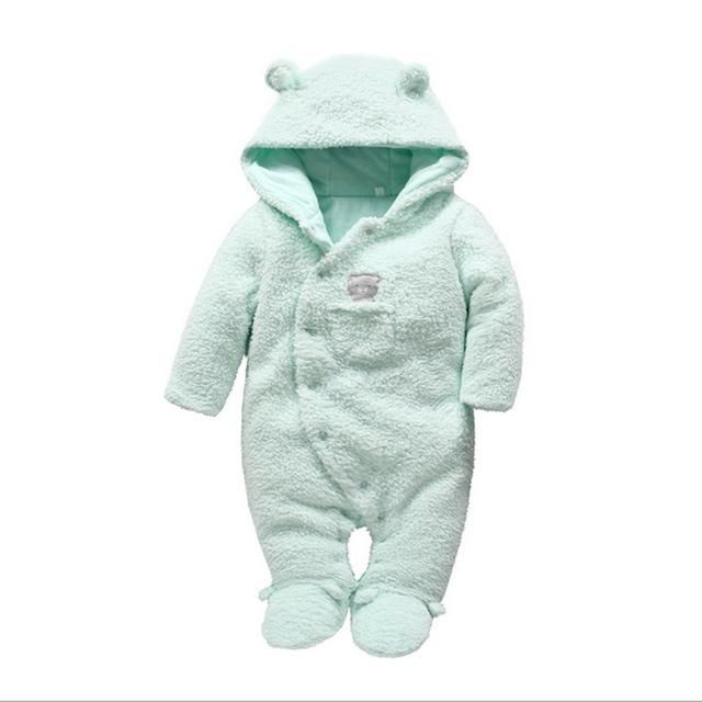 0b8711a285ad9 Tender Babies Newborn baby clothes bear onesie baby girl boy rompers hooded  plush jumpsuit winter overalls for kids roupa menina