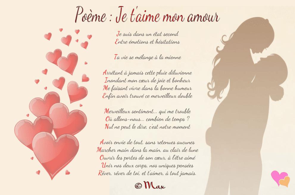 Poème Acrostiche Et Citations Sur Les Amoureux Poeme Je T