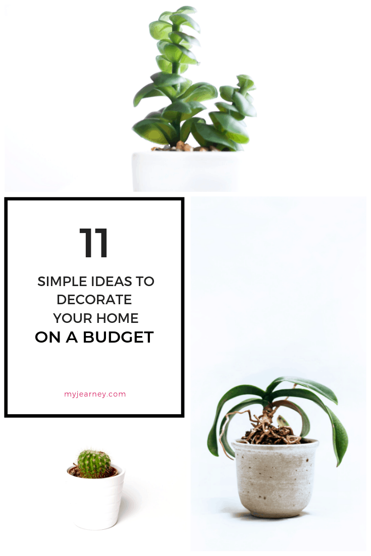 Learn simple ways to decorate your home on a budget with cheap items sourced from thrift shops, garage sales or hand me downs. #budgethomedecor #budgethomedecorating #budgethomeimprovement #cheaphomedecor #cheapdecoratingideas