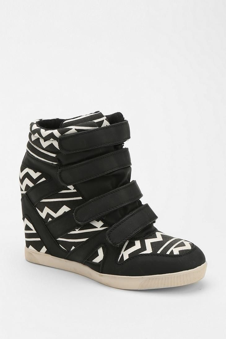 BDG geo-print hidden wedge sneakers  9401d6933