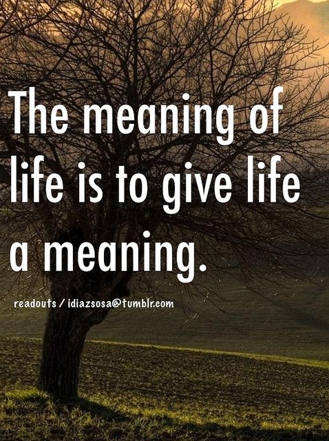 The Meaning Of Life Is To Give Life A Meaning Meaning Of Life Life Finding Meaning In Life