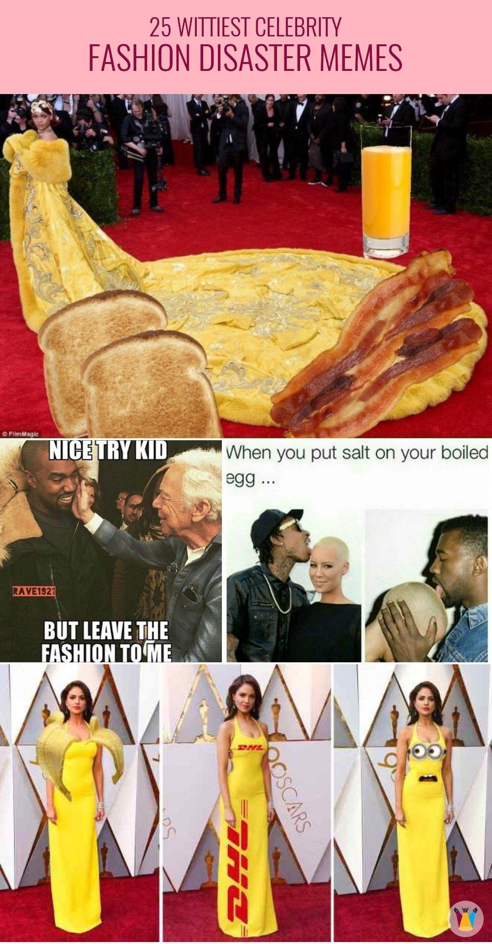 25 Wittiest Celebrity Fashion Disaster Memes Celebrity
