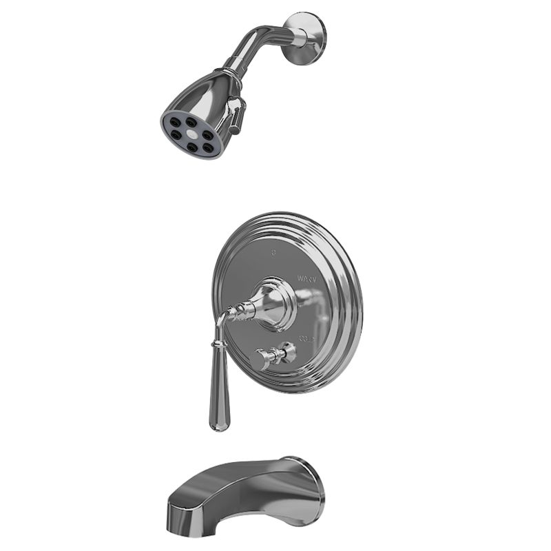 Single Handle Tub and Shower Faucet