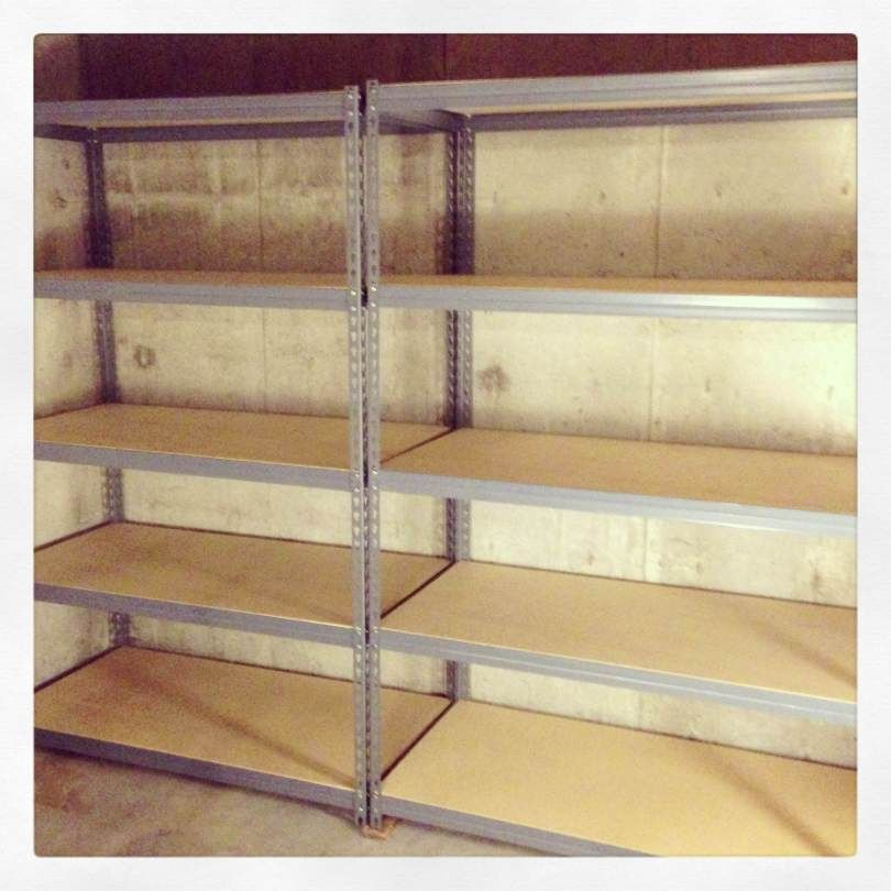 Cheap, easy-to-build storage shelves – mother earth news, Here's a simple method for building some inexpensive wood storage shelves 4 shelves. Description from woodsworkingplan.com. I searched for this on bing.com/images