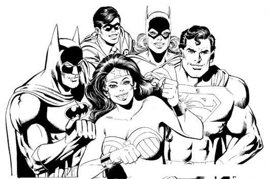Dibujo De Los Super Heroes Para Pintar Y Colorear A Batman Robin ...