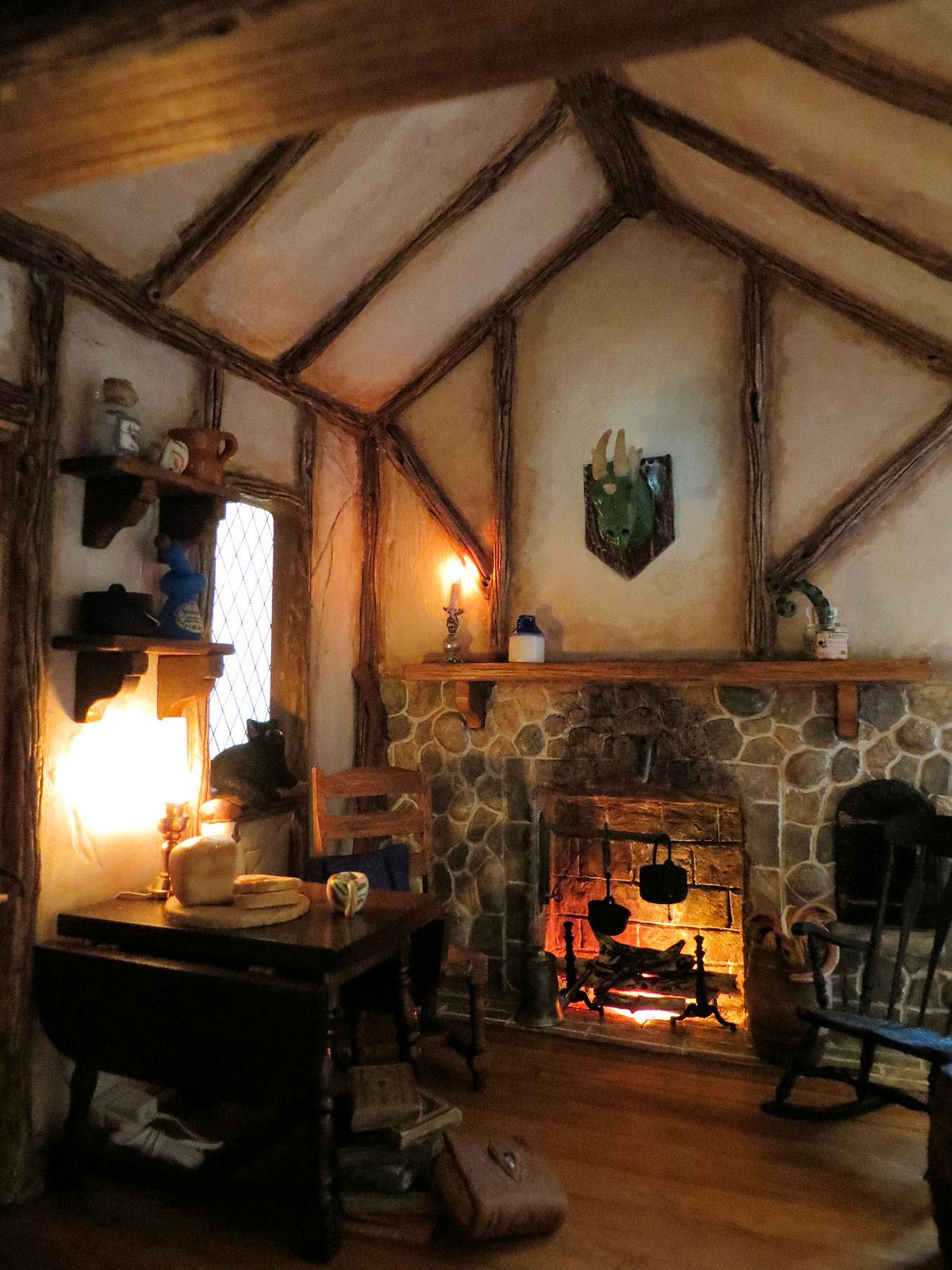 Small Cottage Interiors Cozy Home Office Cottage: Witch House, Miniature Rooms, Miniature Houses