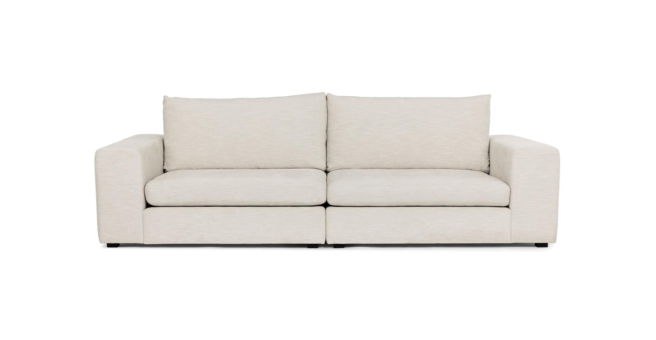 Gaba Pearl White Two Seater Modular Sofa Modular Sofa Mid