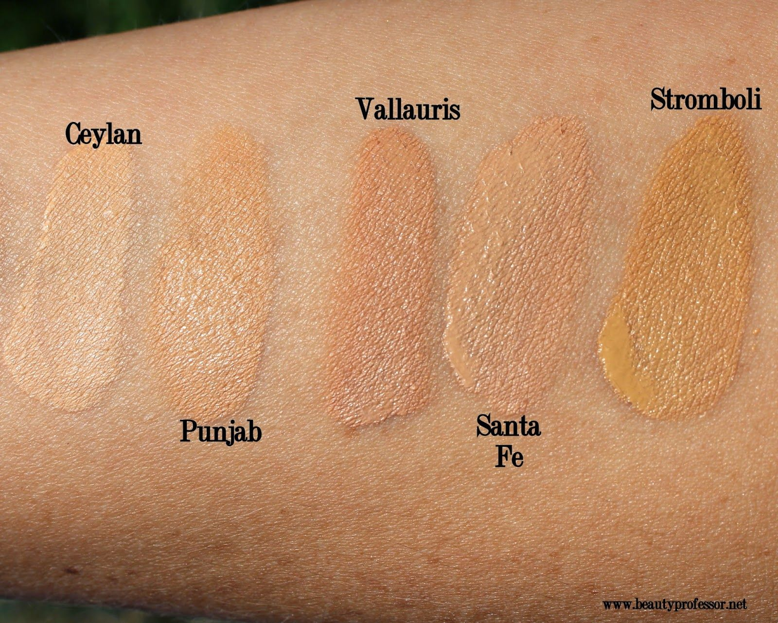 Nars All Day Weighless Luminous Foundation Swatches Nars