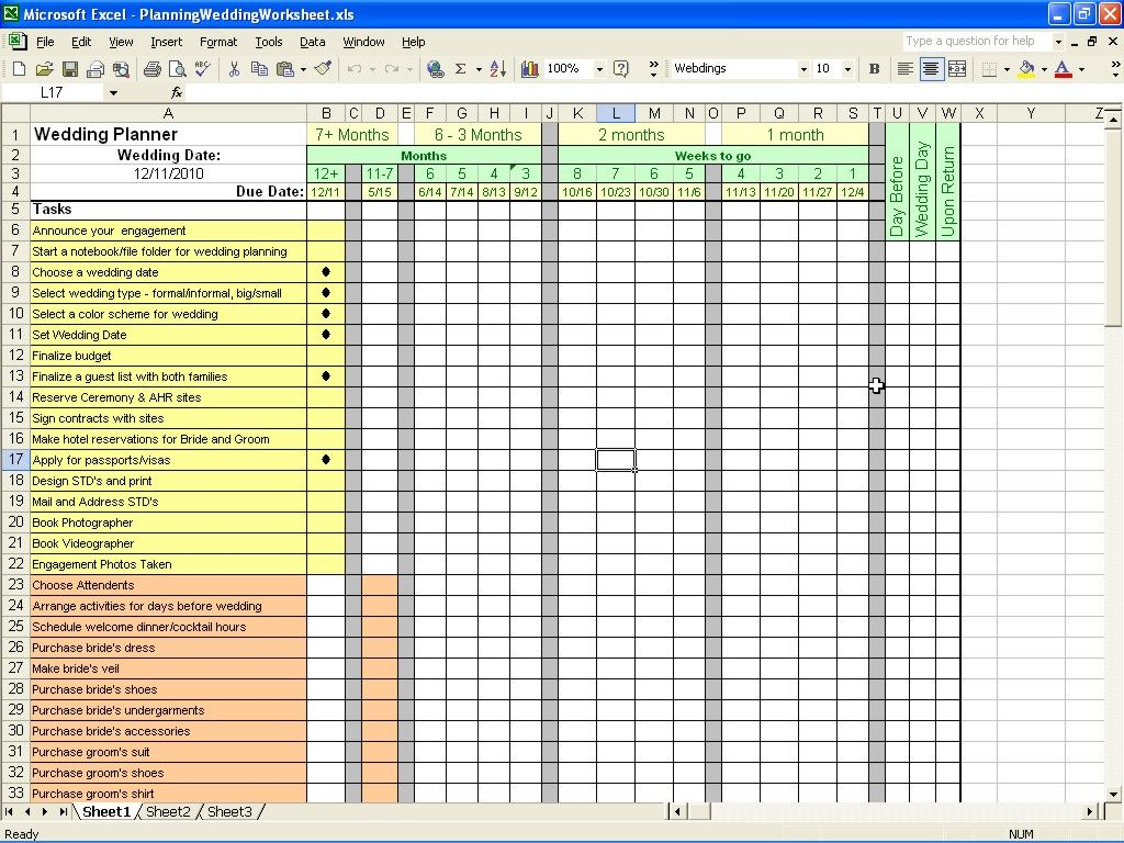 Free Wedding Budget Spreadsheet Excel | Business Templates ...