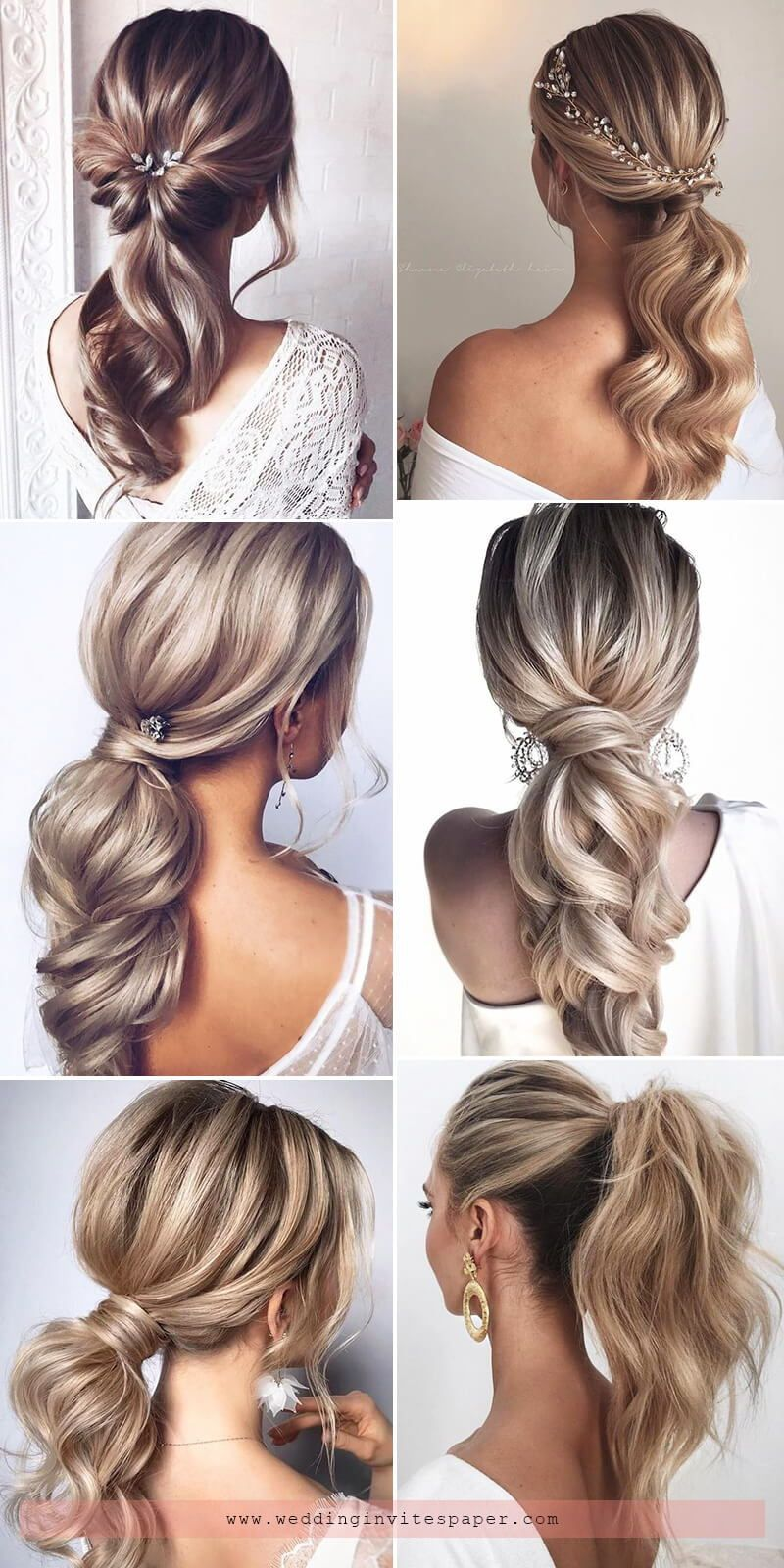 100+ Half Up Half Down Wedding Hairstyles to Swoon Over - Wedding Invites  Paper in 2020 | Wedding hair down, Stylish ponytail, Hair styles