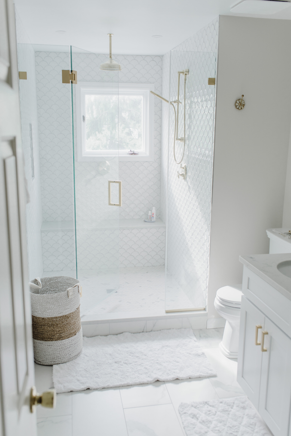 Photo of My Luxurious White & Gold Master Bath Reveal! – Style Inherited
