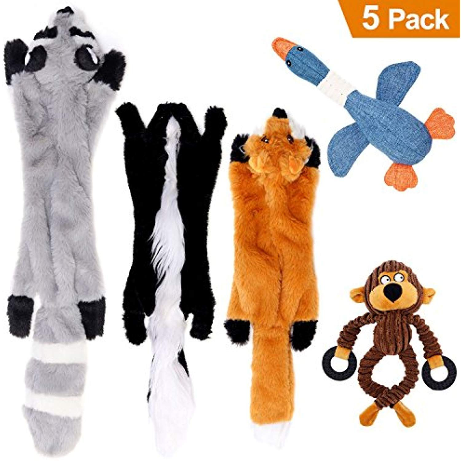 Lovekong Stuffingless Dog Toys No Stuffing Dog Toys Of Raccoon