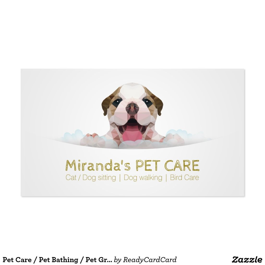 Pet Care / Pet Bathing / Pet Grooming Appointment Business Card ...