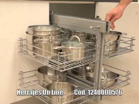 Herrajes online   magic corner   herraje de cocina   youtube ...