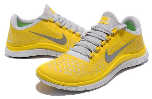 Cheap Nike Free 3.0 V4 Mens Running Shoe Chrome Yellow