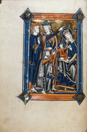 Adoration of the Magi Royal 2 B III Psalter Netherlands, S. (Bruges); 2nd or 3rd quarter of the 13th century