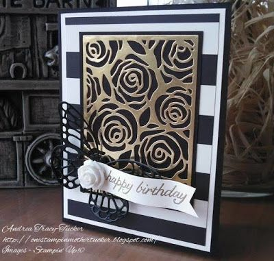 One Stampin' Mother Tucker Stampin' Up! Butterfly Thinlits, Birthday Blossoms, Timeless Elegance DSP #TGIFC