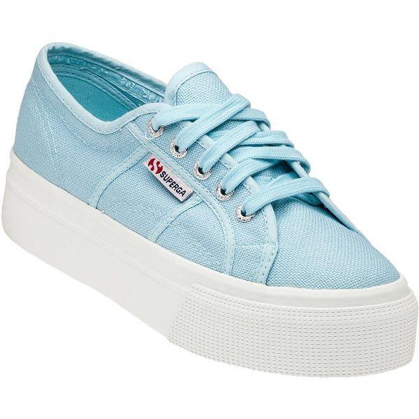 Blue sneakers, Blue platform shoes