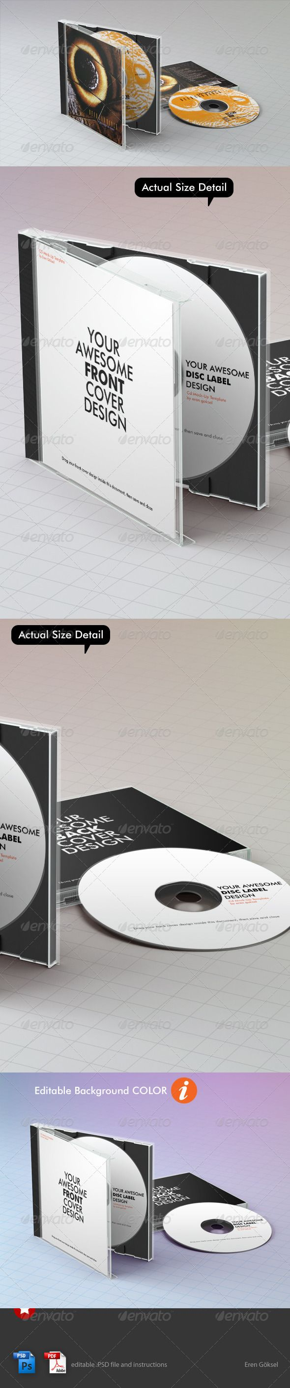 Realistic CD Mock-Up Template 2