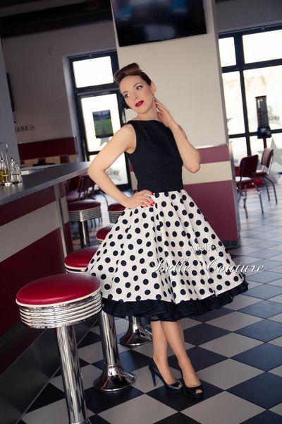 50er jahre rockabilly petticoat kleid rockabilly belle. Black Bedroom Furniture Sets. Home Design Ideas