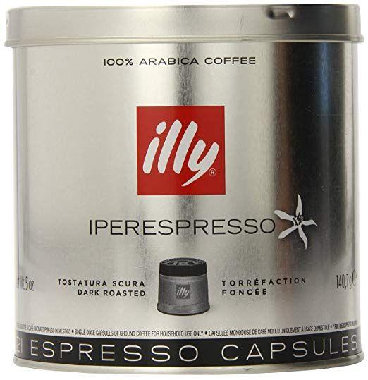 Illy Coffee Iperespresso Capsule Dark Roast Espresso Pods