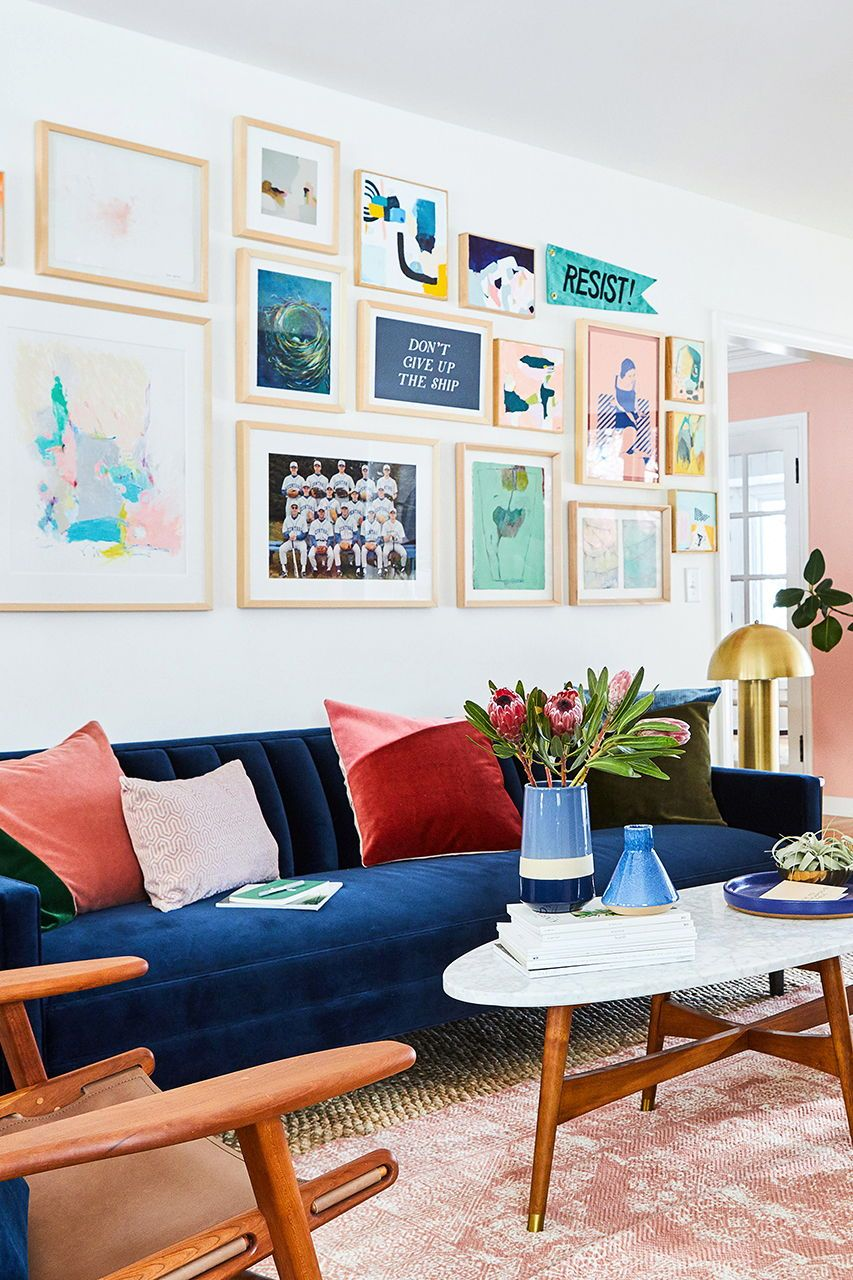 13 No Fuss Ways To Add Color Without Paint Velvet Living Room Colourful Living Room Colorful Furniture Living Room #small #house #living #room #paint