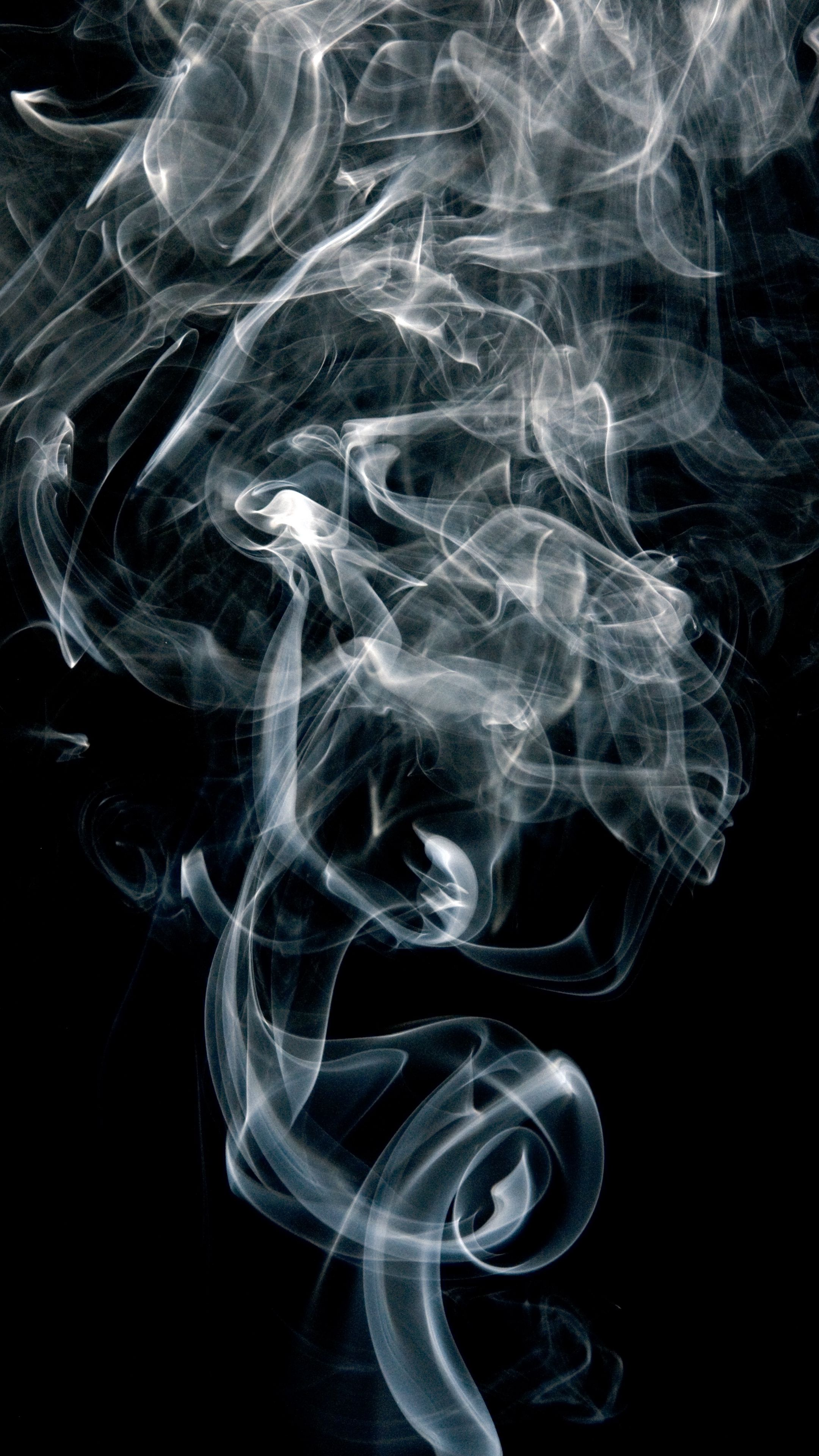 Abstract Smoke Shroud Smokepuffs Darkbackground