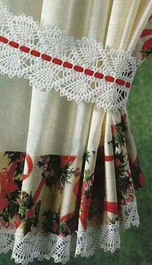 Muestra del grafico   me gusto en crochet   Pinterest   Cortinas ...