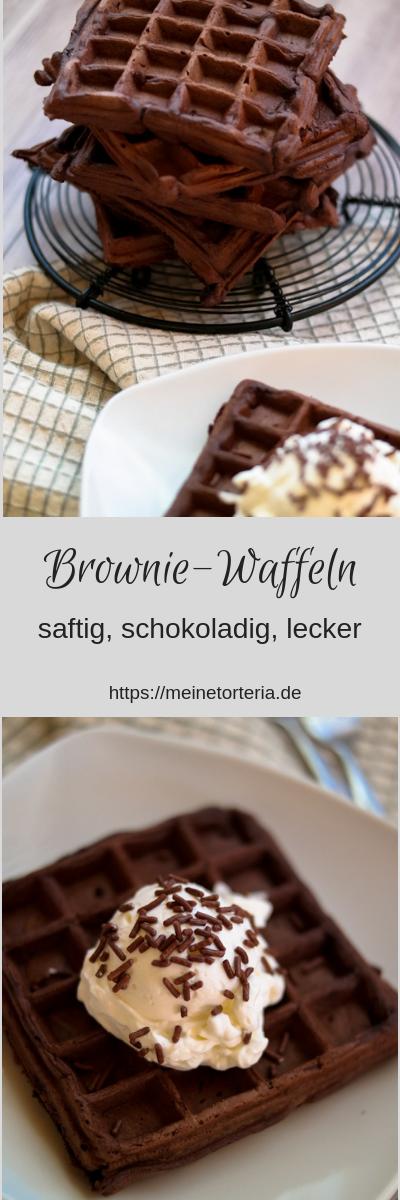 Leckere und saftige Brownie-Waffeln - Meine Torteria