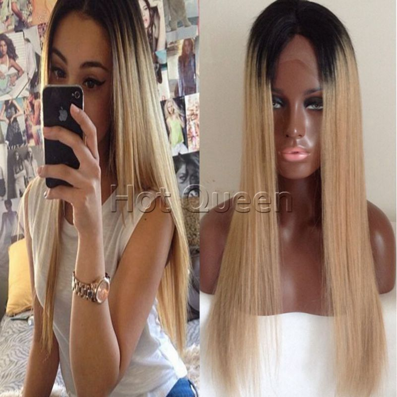100 Brazilian Remy Human Hair Lace Front Wig Full Lace