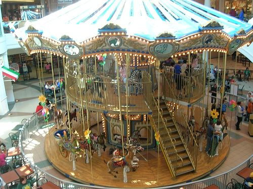 Fort Wayne Mall >> Merry Go Round Merry Go Rounds Indiana Double Deck Merry