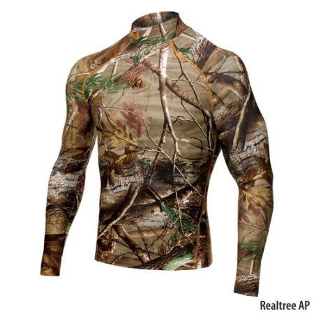 bc9bb8aa Under Armour Mens Evolution Camo ColdGear Mock-Neck Shirt-414219 - Gander  Mountain