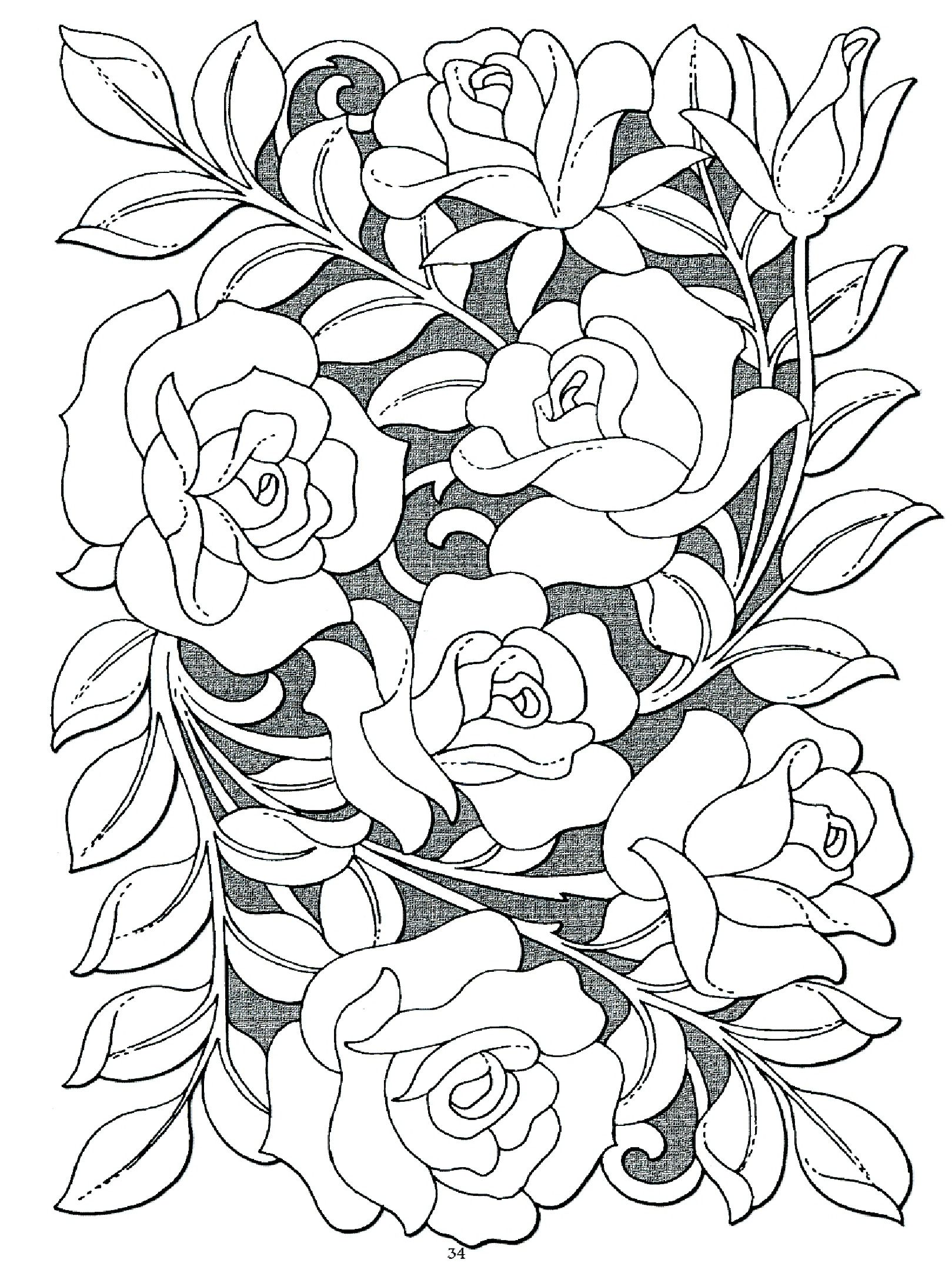 Roses Coloring Pages For Adults That are Impertinent ...
