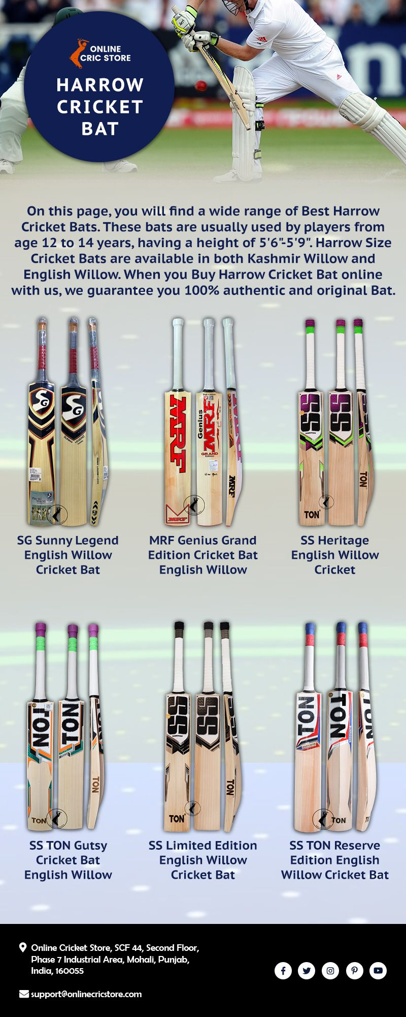 Harrow Size Bat Harrow Cricket Bats Online Cric Store Cricket Bat Bat Online Harrow