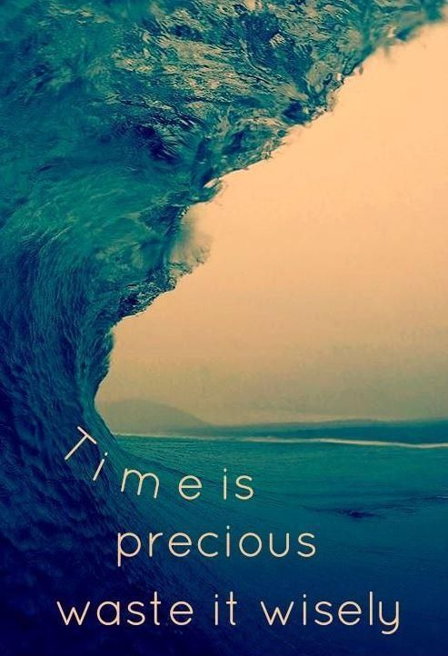 Time is precious, waste it wisely. Picture Quote #1